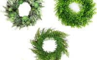 greenery wreaths amazon