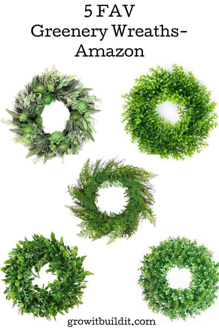 greenery wreaths amazon