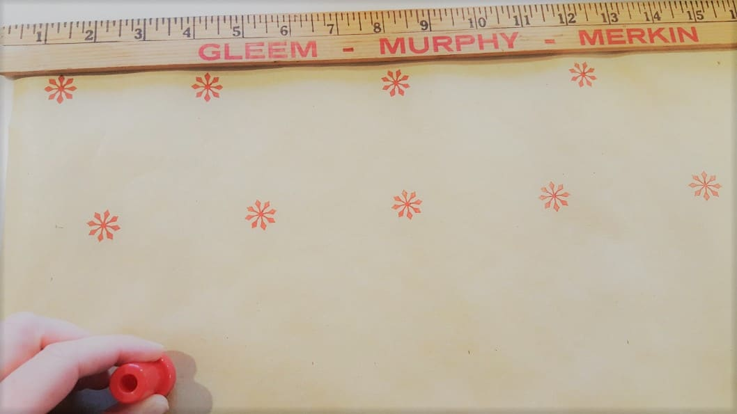 Dollar Store Hack Faux Stencil Gift Wrap Farmhouse Style