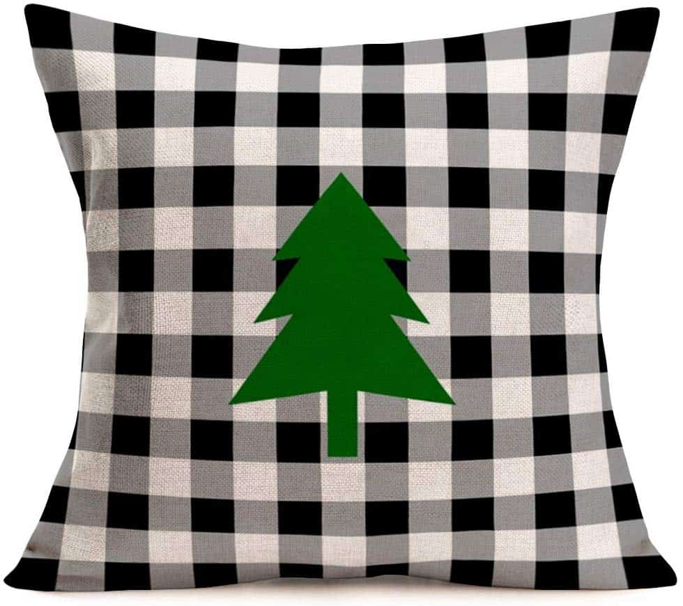 Buffalo Check Christmas Tree Pillow Cover Amazon
