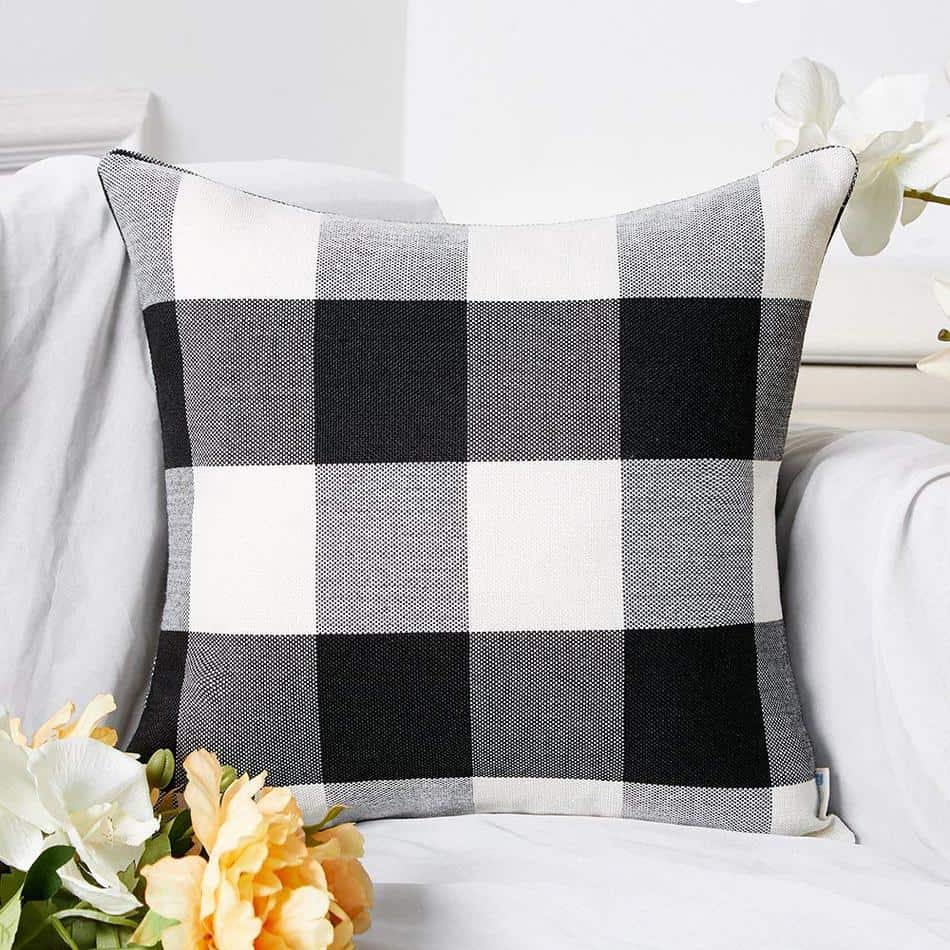 buffalo check pillow cover amazon
