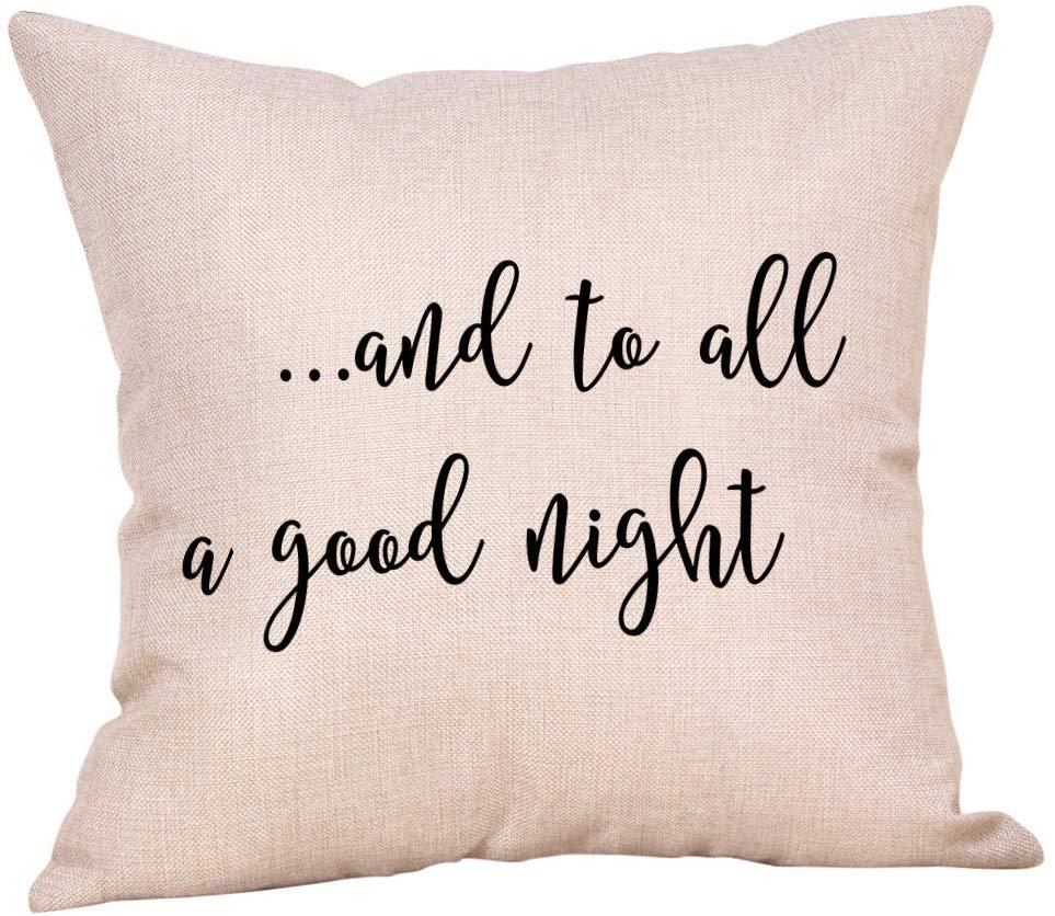 and to all a good night pillow cover amazon