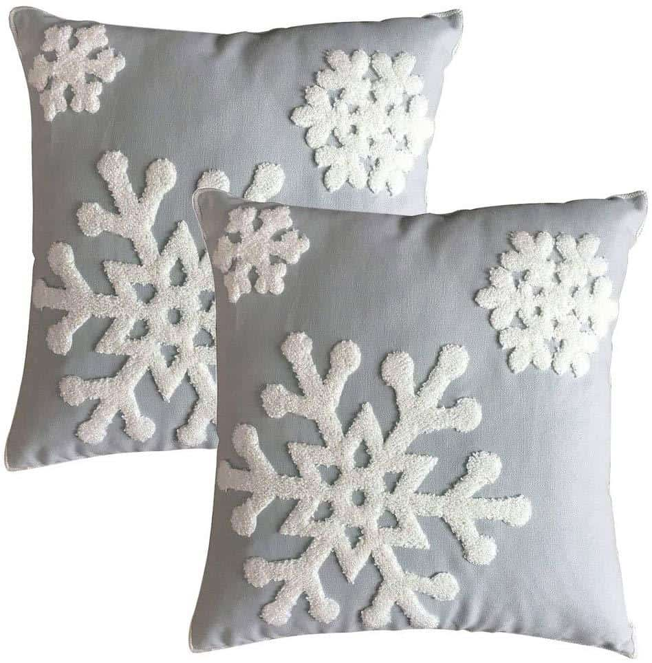 Snowflake Pillow Cover Amazon