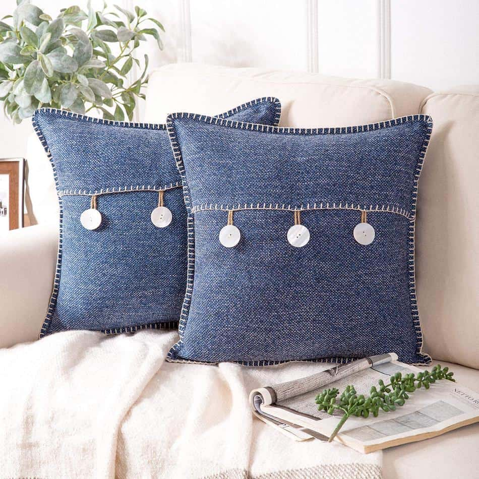 Triple Button Throw Pillow Cover- Amazon