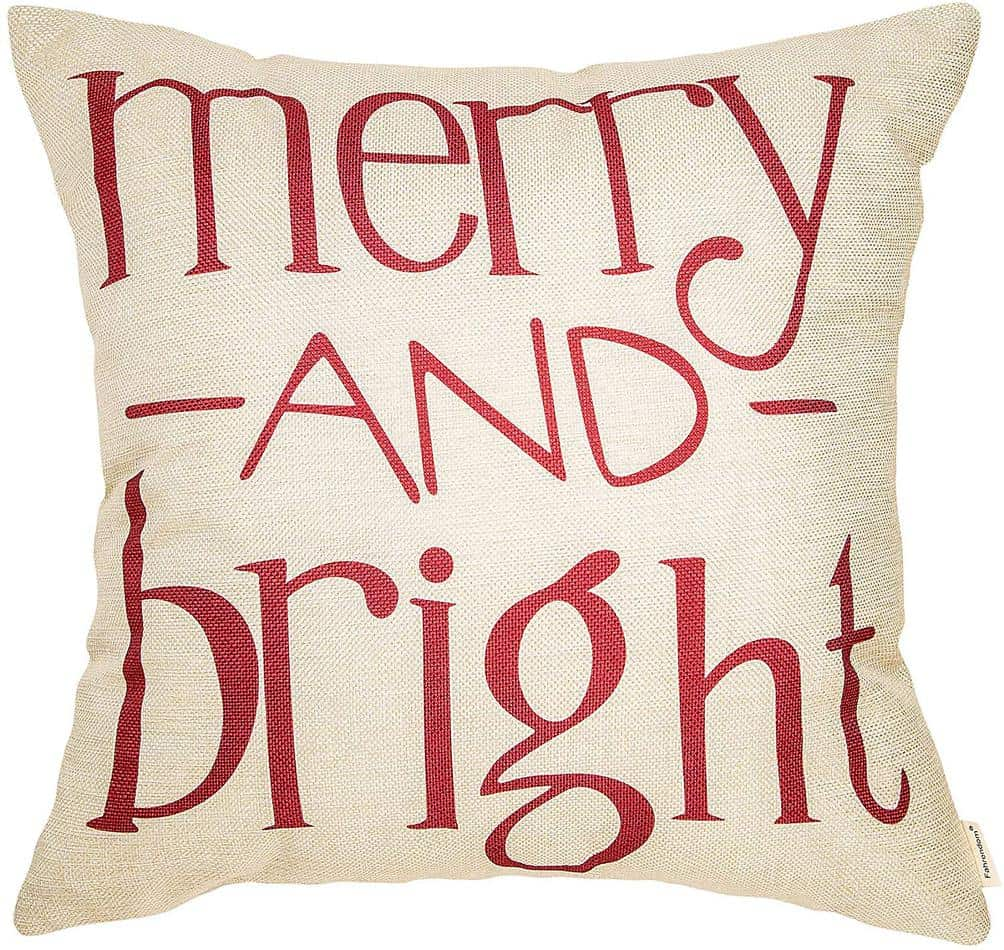 merry and bright pillow cover amazon