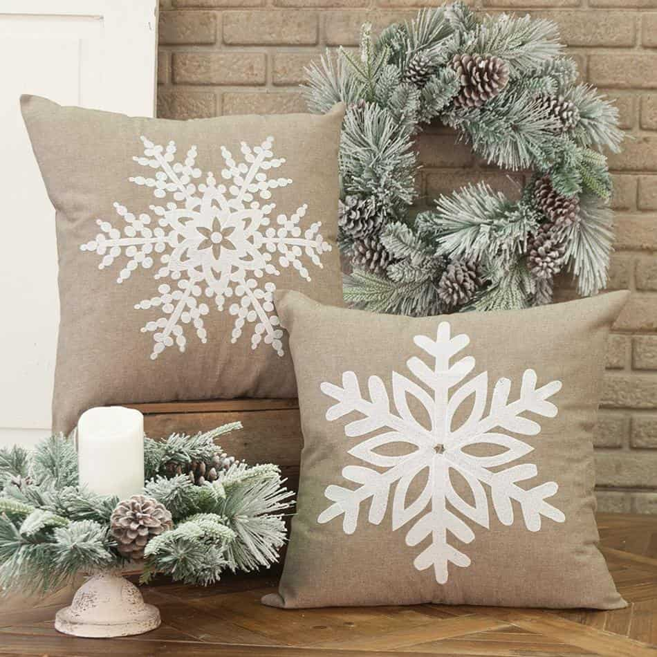 Winter Christmas Pillow Covers Amazon