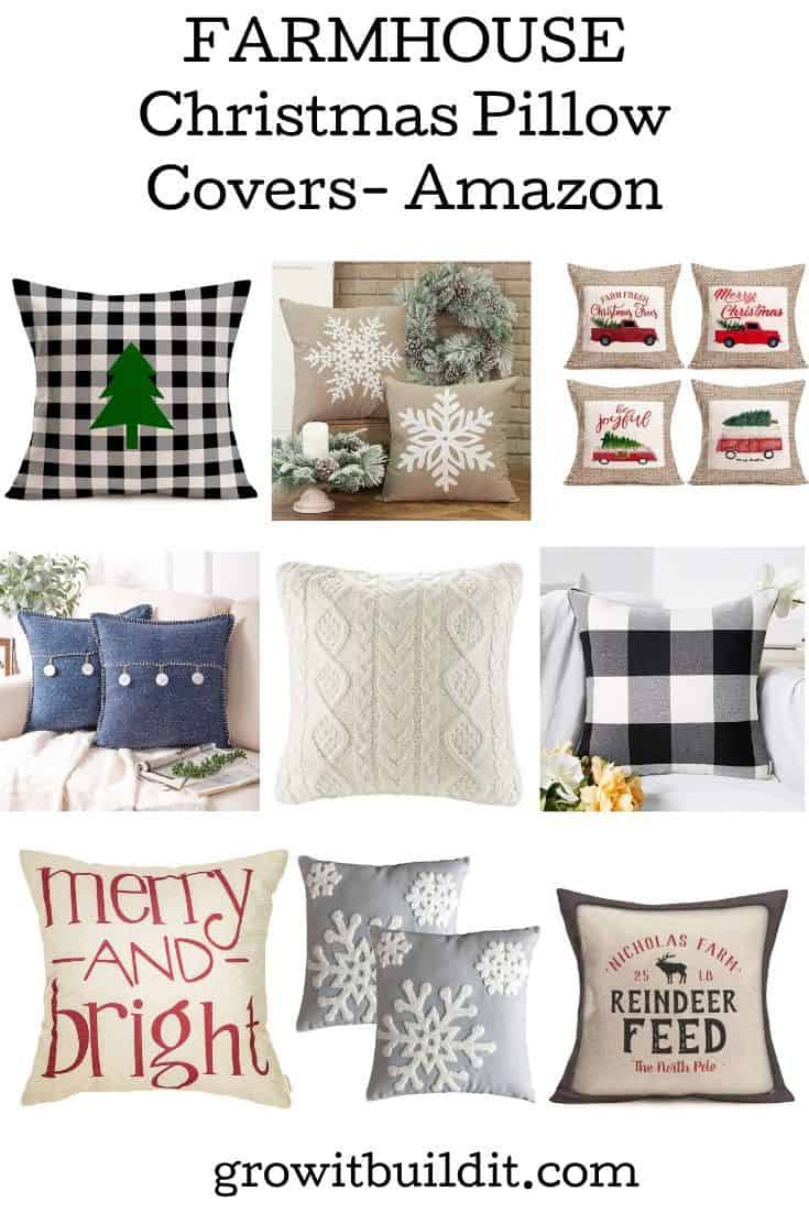 favorite Christmas pillow covers from Amazon