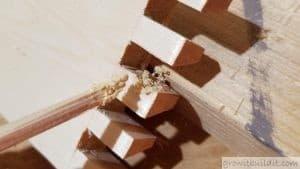 applying diy wood filler
