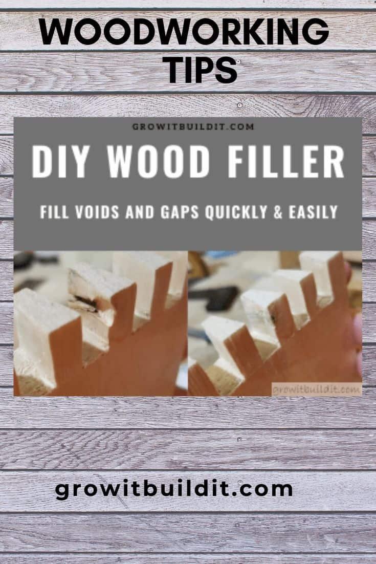 DIY wood filler
