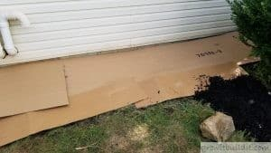 cardboard to smother weeds and kill grass