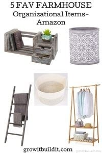 fav farmhouse organizational items