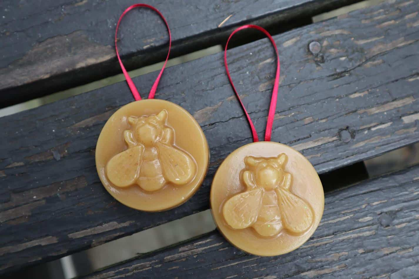 nature inspired Christmas ornaments beeswax ornament