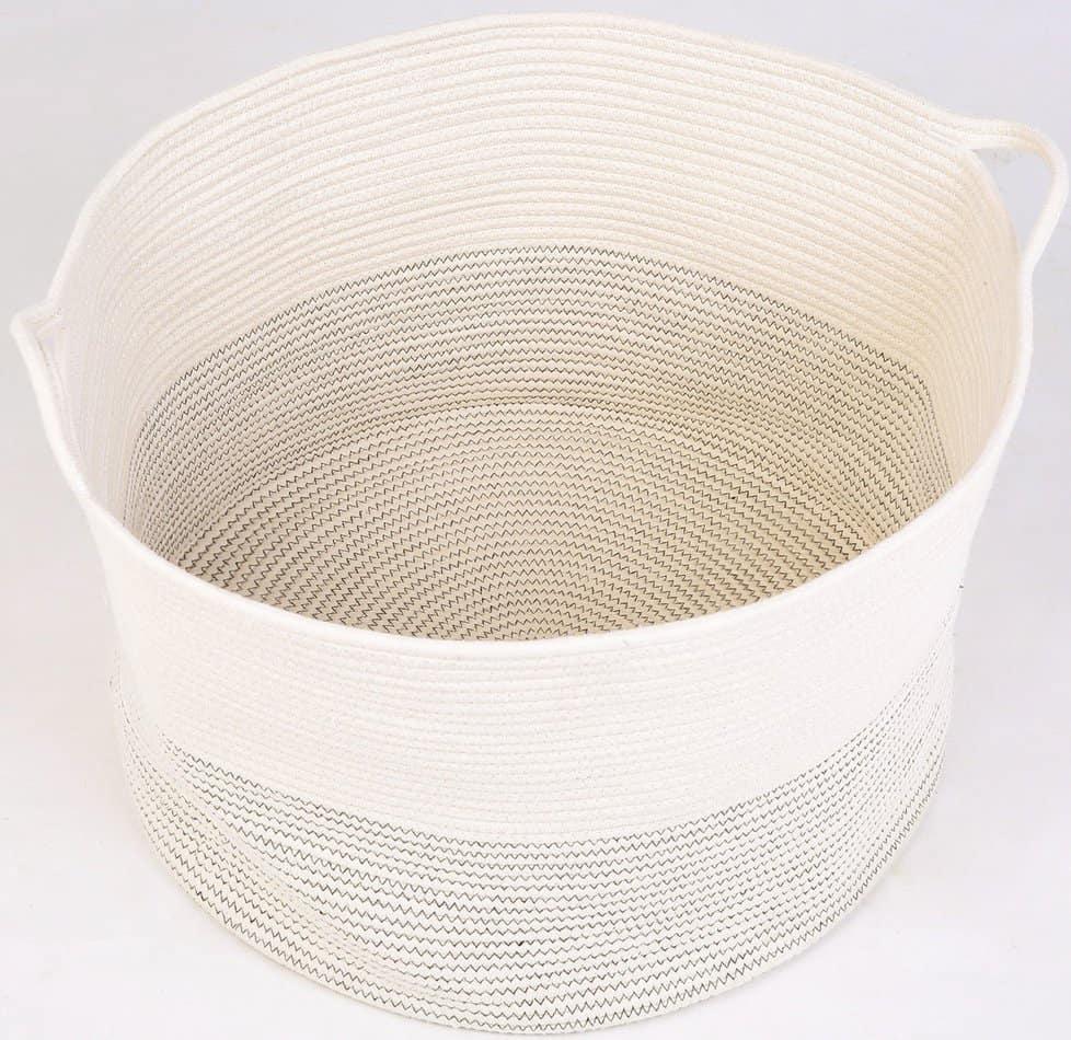 large cotton rope basket