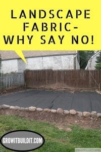 why say no to landscape fabric