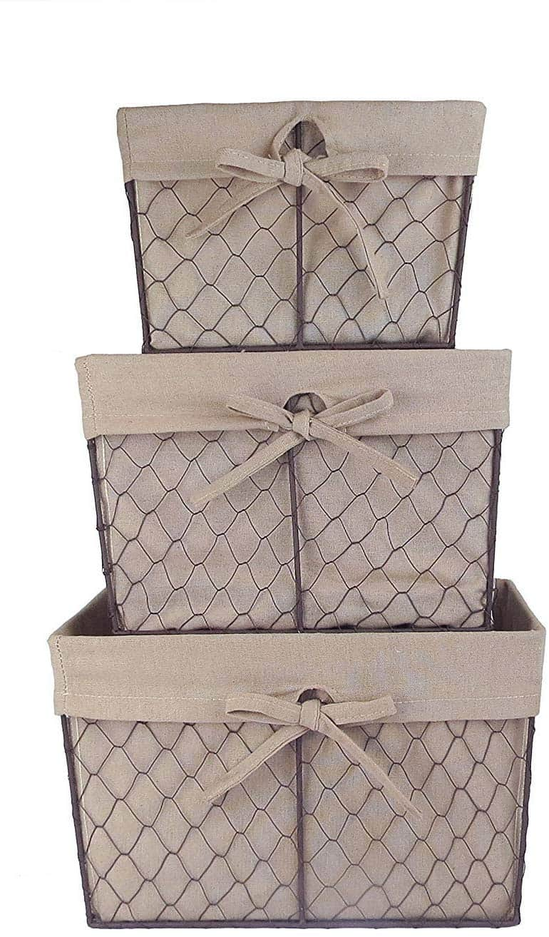 storage baskets chicken wire