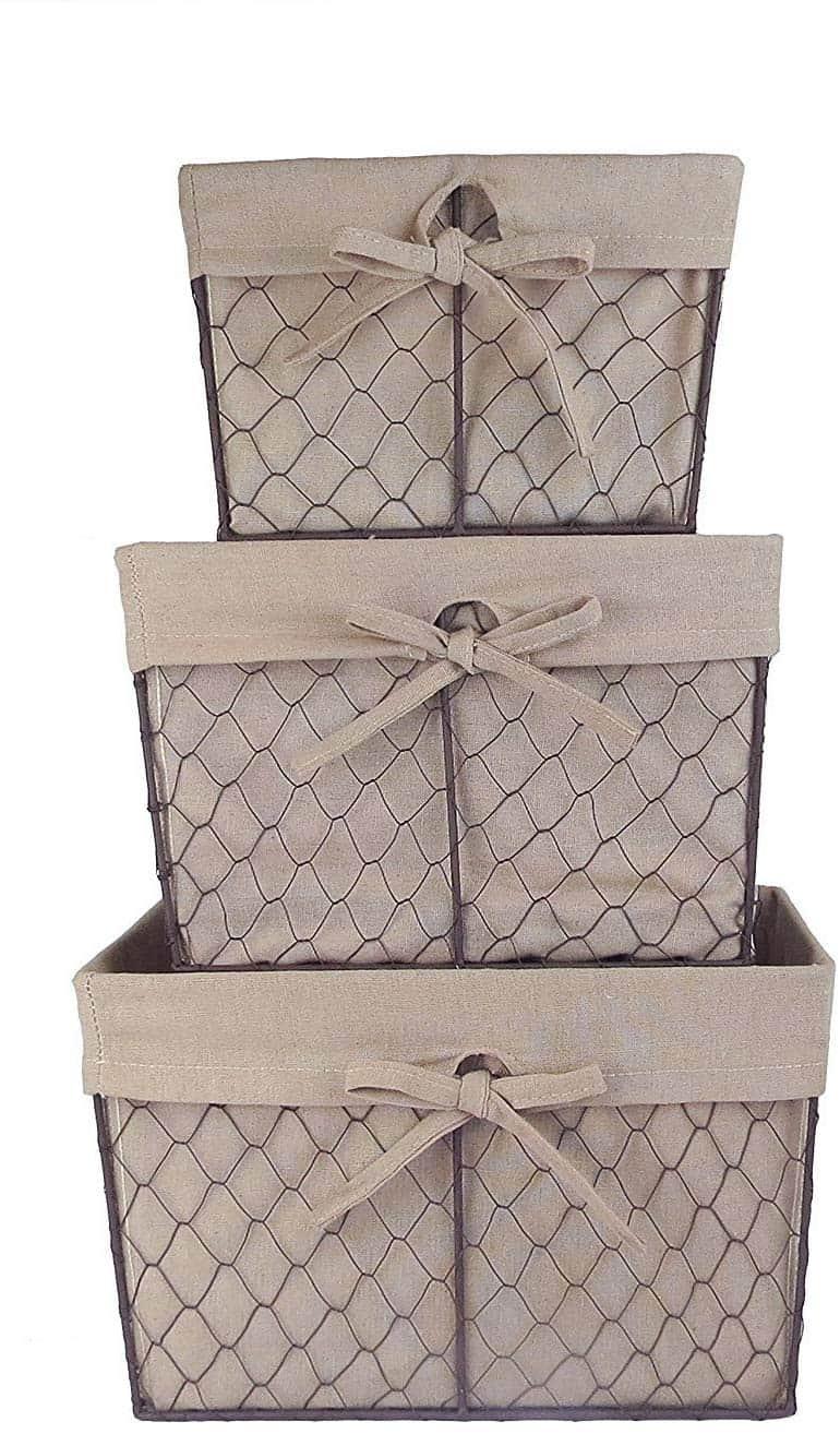 storage baskets chicken wire