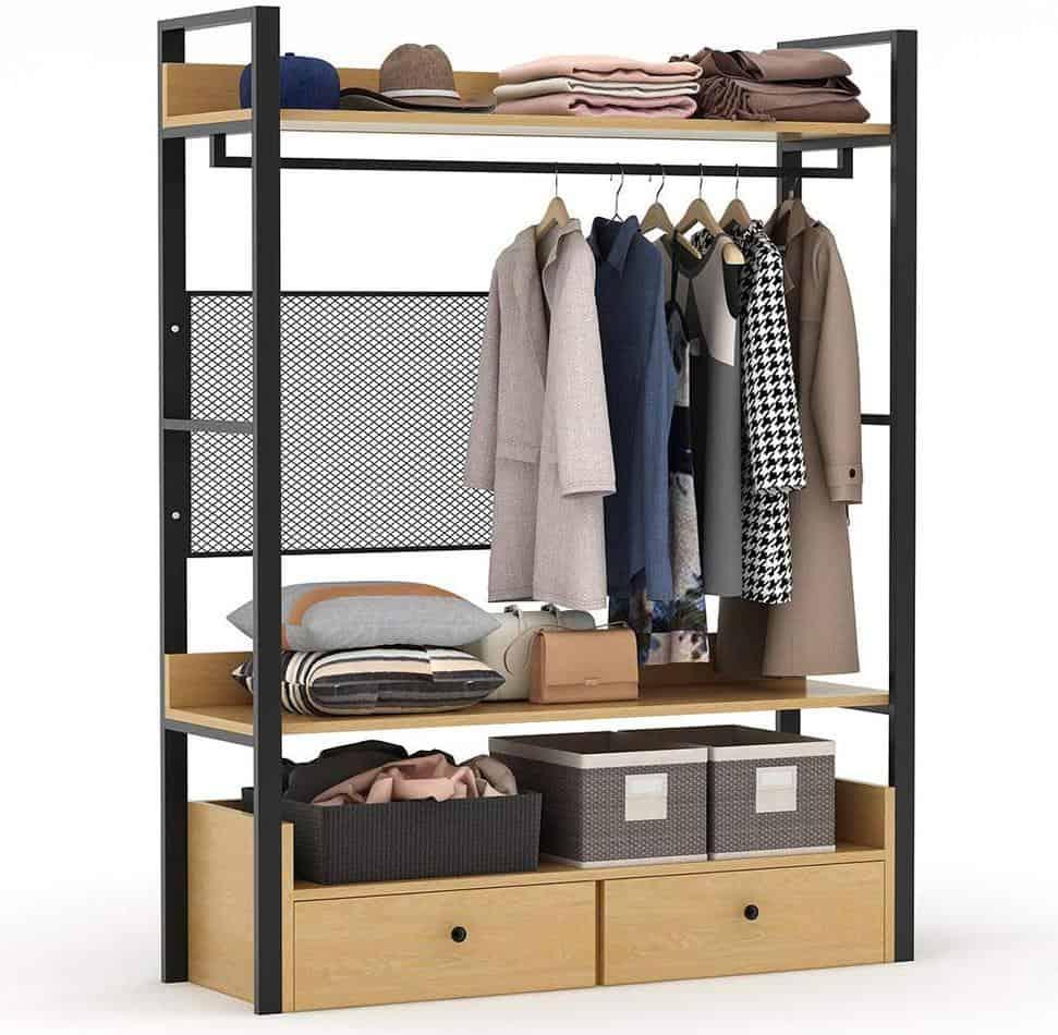 free standing closet organizer