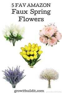 faux spring flowers