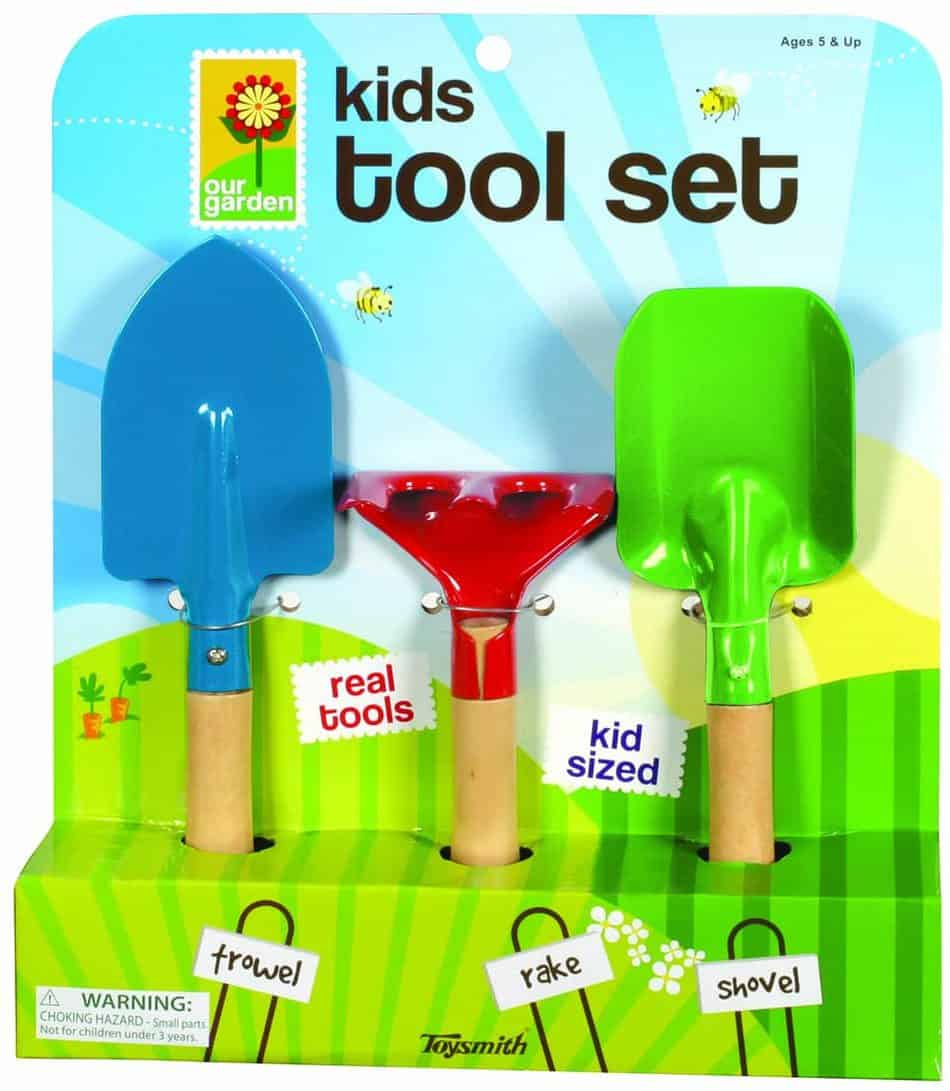 kids garden 3 piece tool set