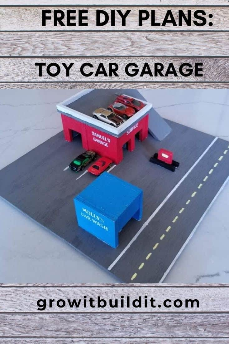 toy car garage diy plans