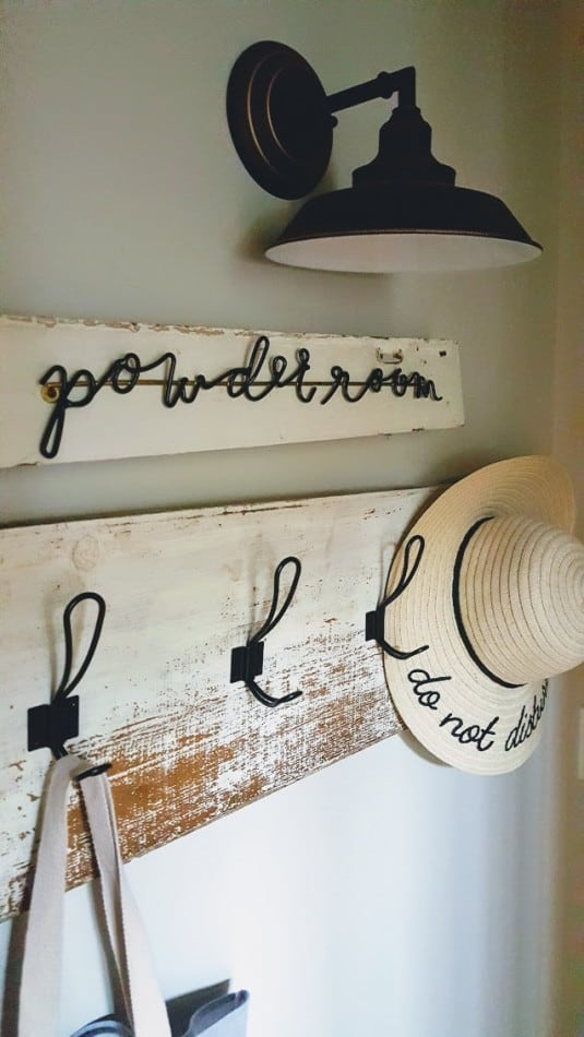 Hearth & Hand Powder Room Sign Hack