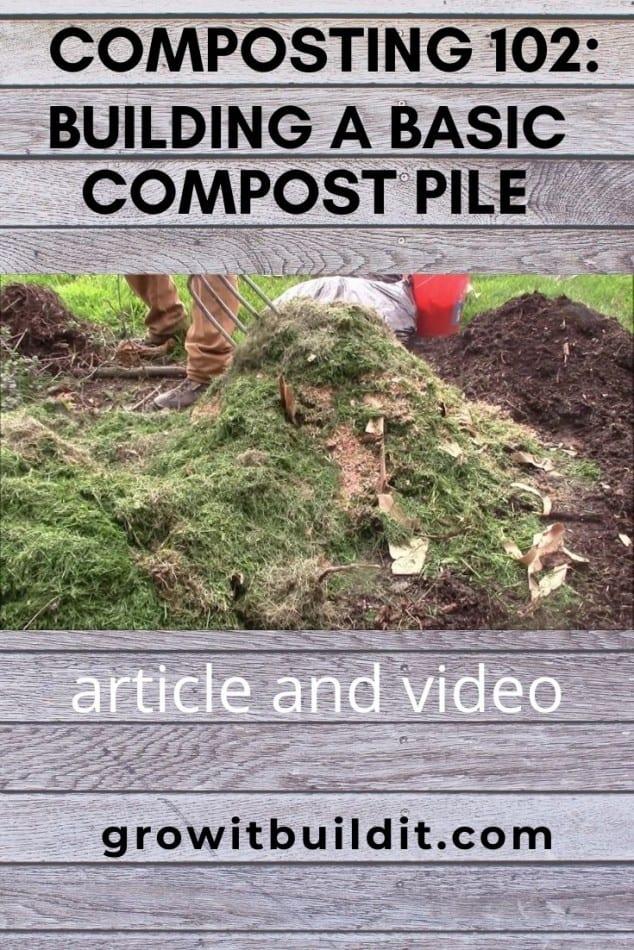 building a basic compost pile