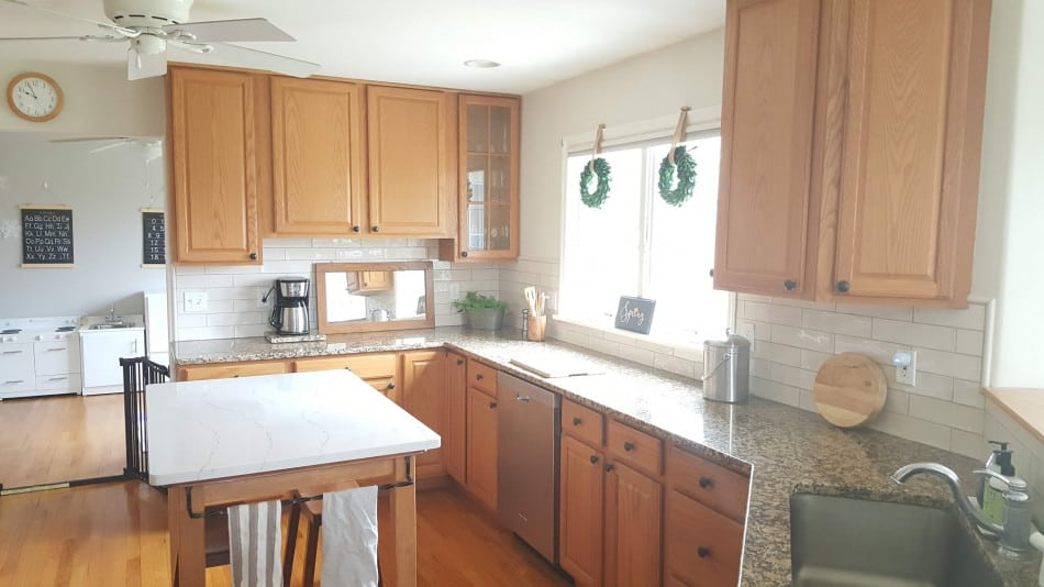 update kitchen without painting wood cabinets