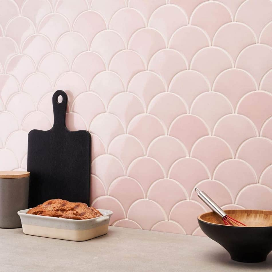 fish scale tile rose